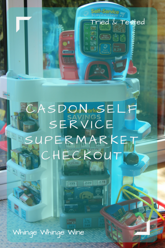 Casdon Self Service Supermarket Checkout toy review - encourage imaginative play with this complete shop! #preschoolers #toddlers #toys #toyreviews #christmaspresents #giftideas #kidsgifts