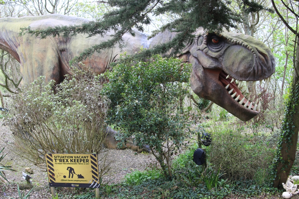 Isle of Wight with children - Dinosaurs at Blackgang Chine