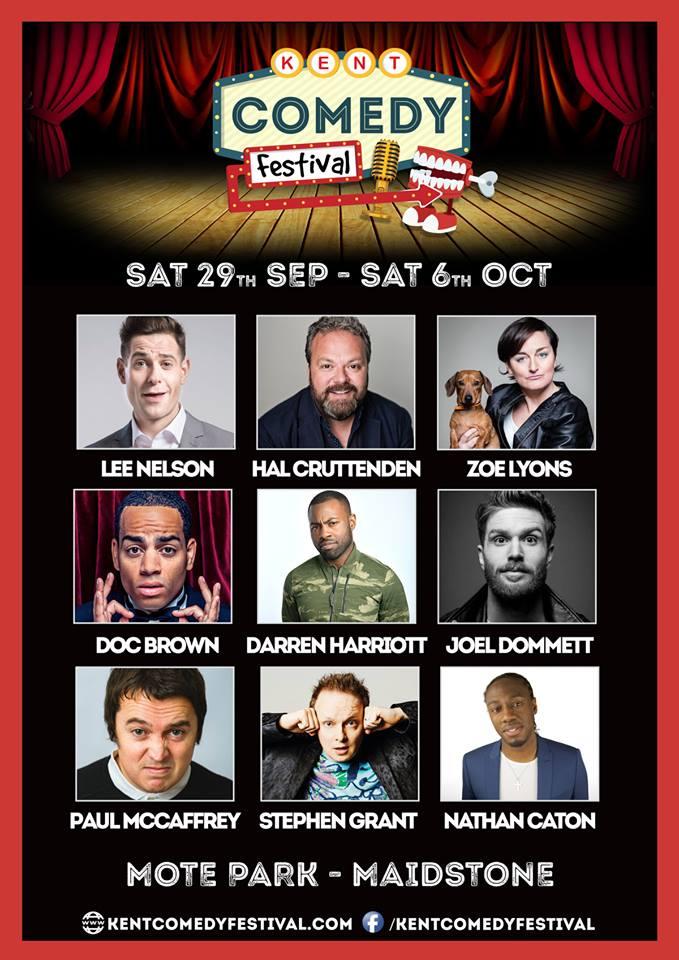 Line up Kent Comedy Festival