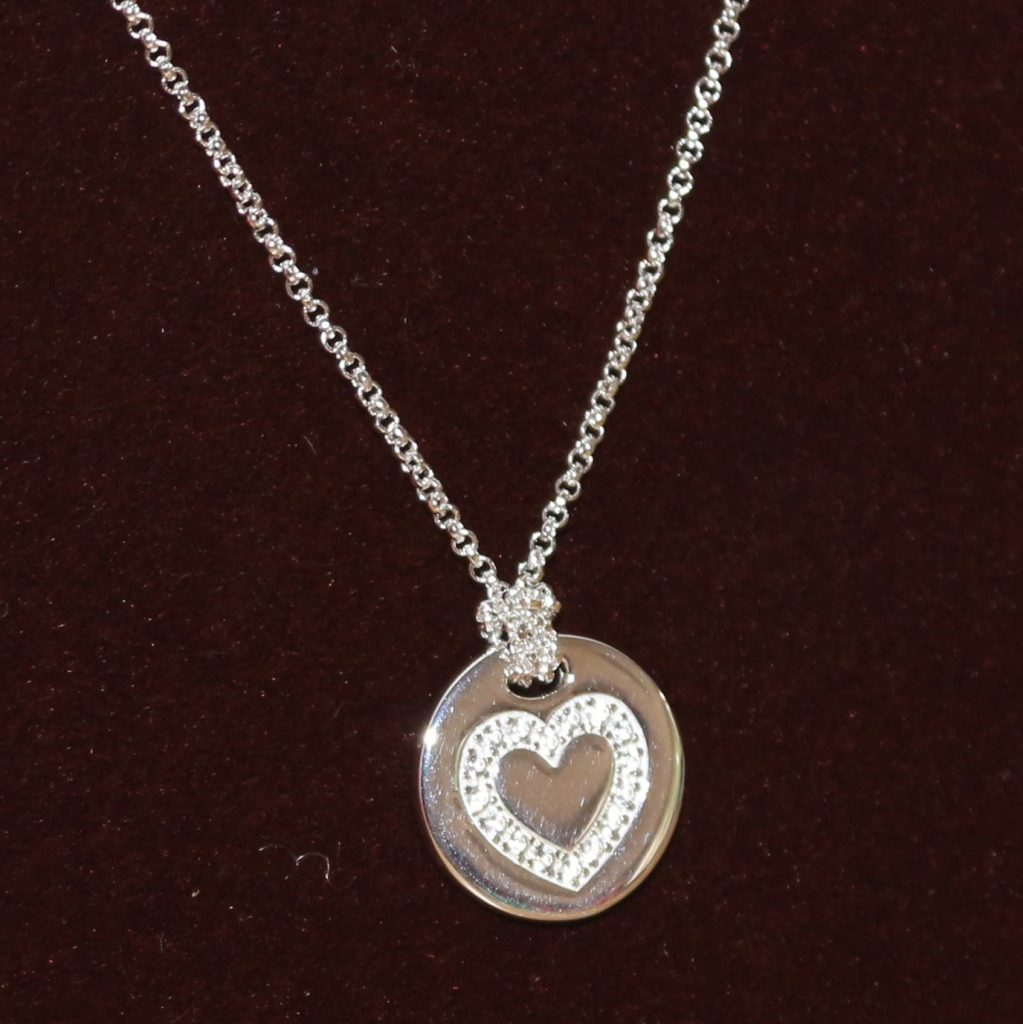 Molly Brown London Silver Heart Necklace front
