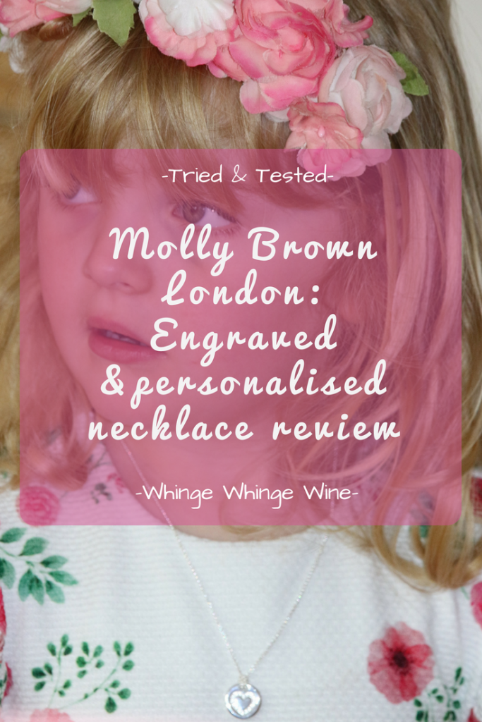 Looking for stunning children's jewellery? Molly Brown London are a British brand who make sterling silver engraved personalised necklaces and other jewellery for girls. Read our review! #jewellery #gifts #girls #giftsforgirls