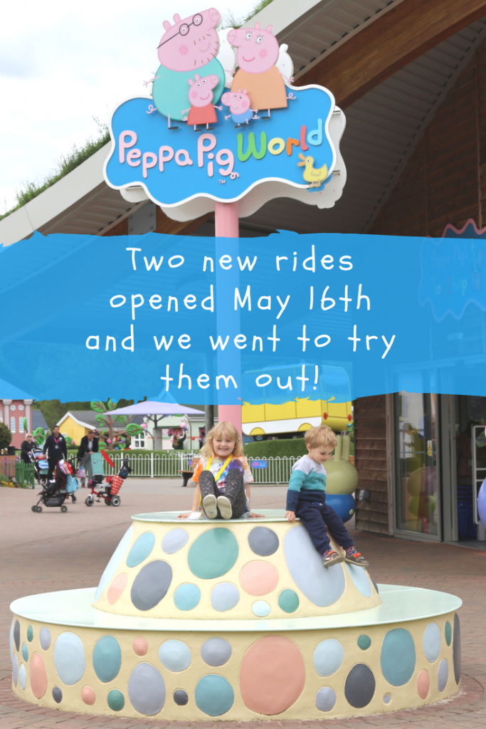 Peppa Pig World new theme park rides for children: Grampy Rabbit's Sailing Club and The Queen's Flying Coach ride open on 16th May 2018 in Paulton's Park. We got to test them out! #UKDaysout #Hampshire #PeppaPig #PeppaPigWorld #PaultonPark #Peppa #Toddlers #Preschoolers