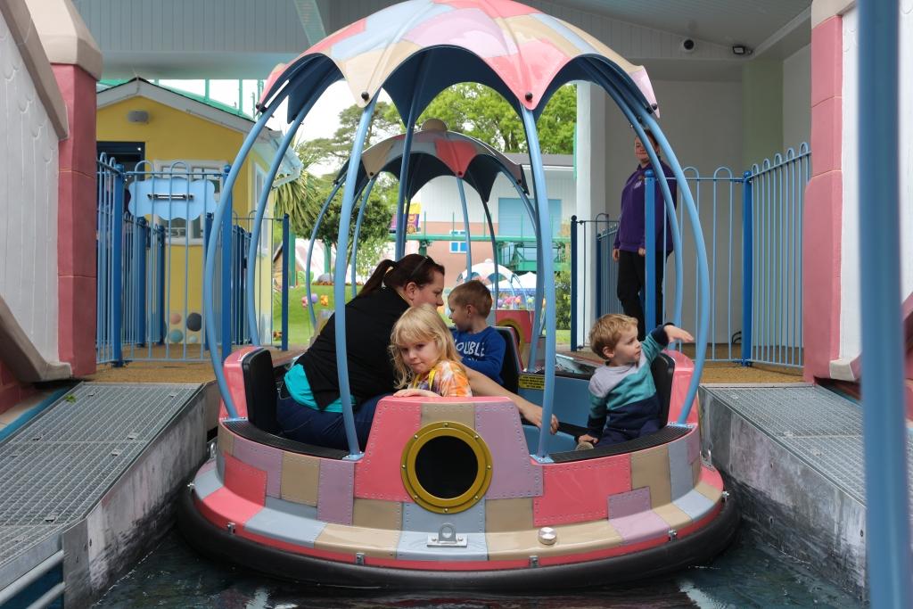 Peppa Pig World - new rides: Grampy Rabbit's Sailing Club boat
