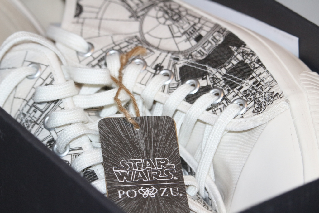 Po-Zu Star Wars Millennium Falcon sneakers trainers new in shoe box