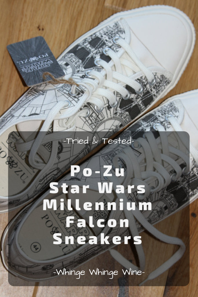 Star Wars shoes from an ethical and sustainable footwear company, Po-Zu footwear: Unisex Star Wars Millennium Falcon trainers review - fashion low cut trainers for the undercover Star Wars nerd! #StarWars #HanSolo #MillenniumFalcon #Fashion #Sneakers #Trainers #MensFashion #Sneakers #Footwear #Shoes #MensShoes #Vegan #Ethical #Sustainable