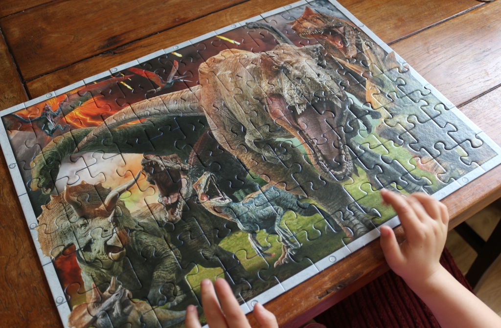 Ravensburger Jurassic World XXL100 jigsaw puzzle (age 6+) review completed puzzle