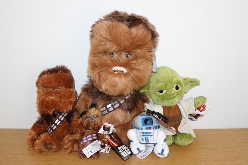 Star Wars Chewbacca Chewie Yoda R2D2 Toys Posh Paws Plush - third birthday presents for boys