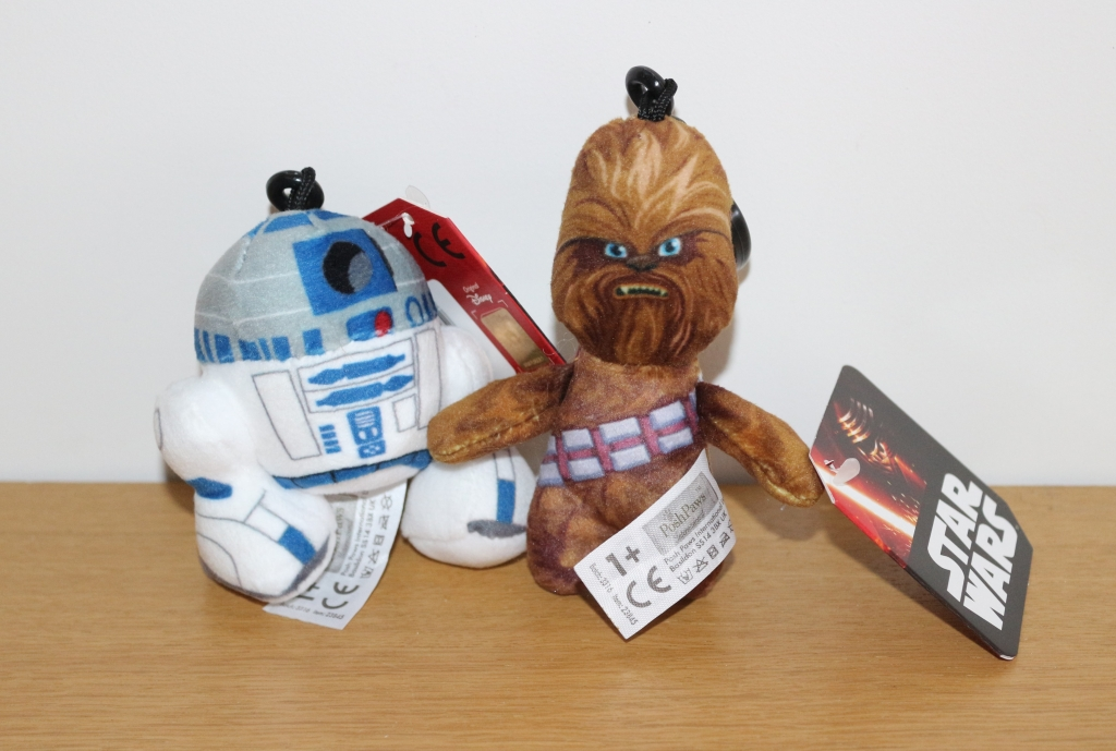 Star Wars Chewbacca Soft Toy: Posh Paws Plush bag clips keyrings