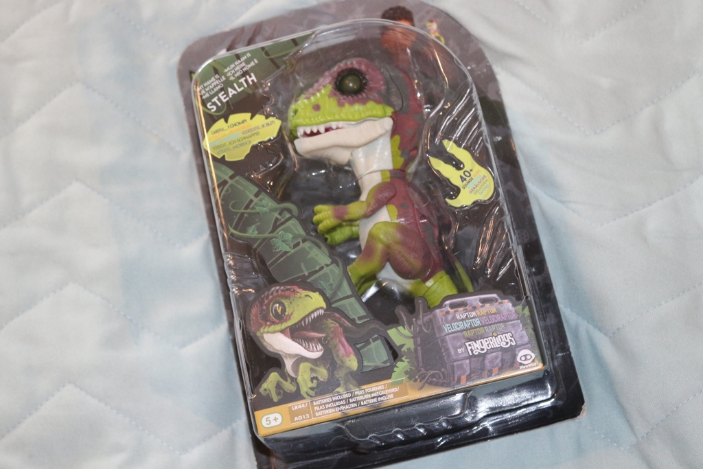 Untamed Raptor review : ingerlings Dinosaur in packaging (stealth)