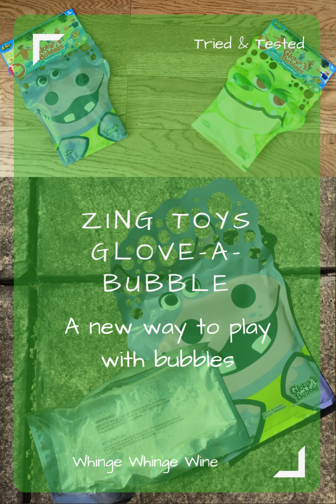 Glove-a-bubbles are set to be this summer's newest craze so we got some to try out - put your hand in the Glove-a-bubble and wave it to make bubbles! #toys #gloveabubbles #gloveabubble