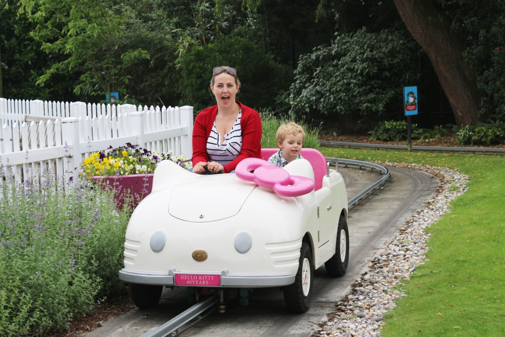 Hello Kitty Secret Garden car ride at Drusillas - things to do for children