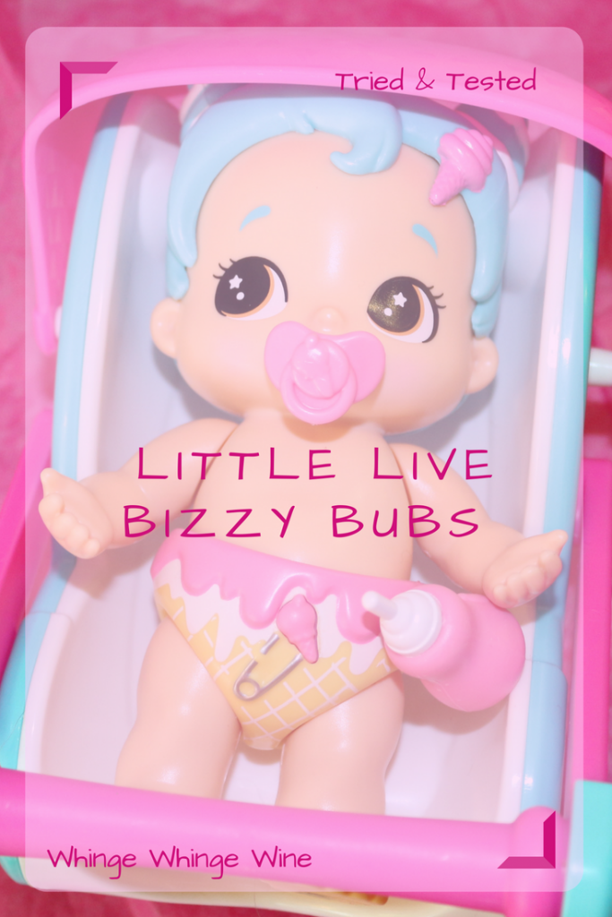 Little Live Bizzy Bubs are walking talking baby dolls. They all have a unique action. Aimed at ages 5+ see what we thought of the newest interactive baby dolls! #toys #childrenstoys #babydolls #littlelivebizzybubs #bizzybubsbabyshower #girlstoys