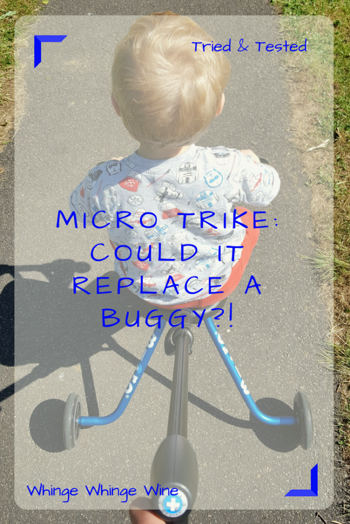 The new toddler Micro Trike - a review. Could the newest trike, which folds flat, replace a buggy? #parenting #reviews #kids #toddlers #trikereview #micro