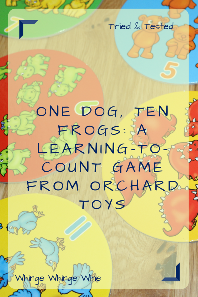 Want to help your preschooler learn to count, match, sequence and add and subtract in a fun way? One Dog, Ten Frogs is a fun learning-to-count educational board game from Orchard Toys. #preschoolers #educational #learningtocount #learningnumbers #matching #sequencing #boardgames