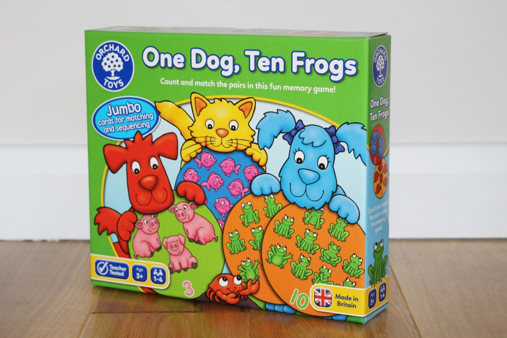 One Dog Ten Frogs Orchard Toys new counting game - learn to count