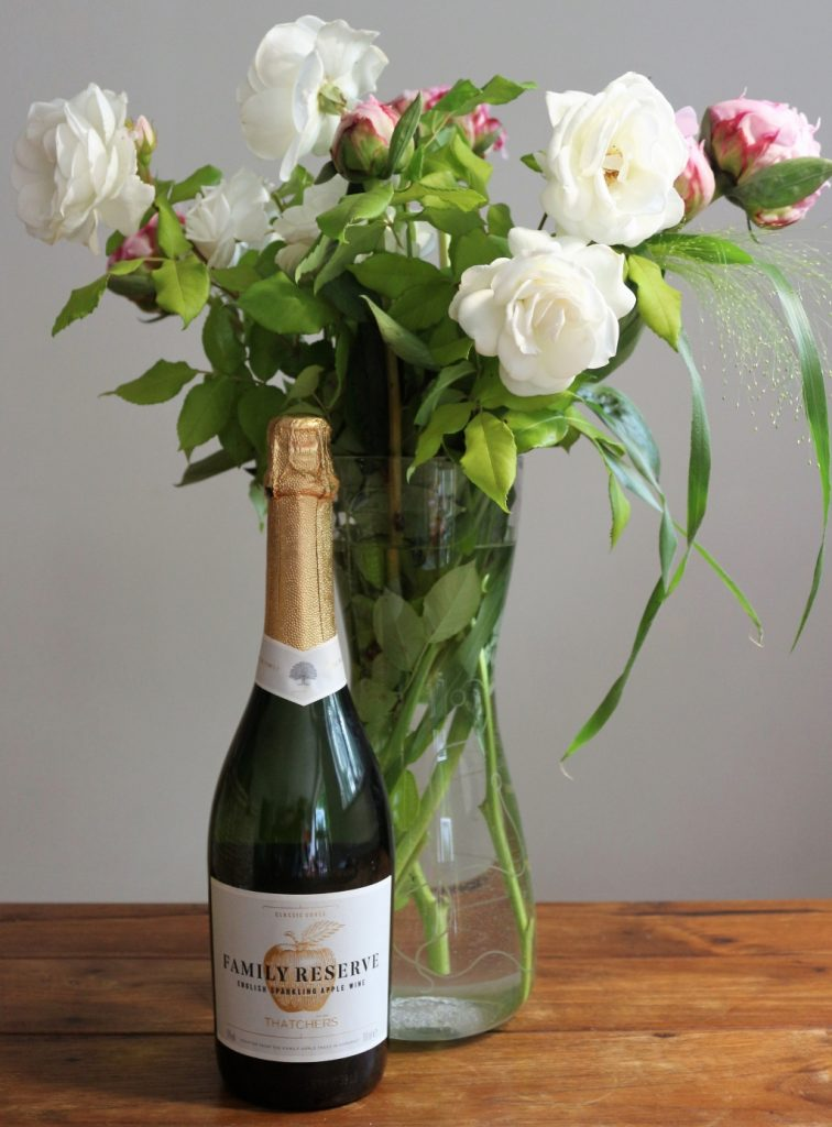 Thatchers Family Reserve with flowers from the garden