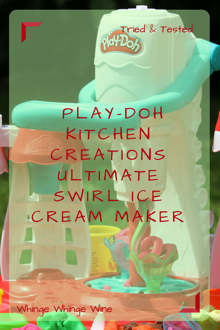 The Ultimate Swirl Ice Cream Maker is the newest toy from Play-Doh Kitchen Creations by Hasbro. Make ice cream, and even give it toppings (Toy reviews) #playdoh #toys #preschooltoys #pretendplay #imaginativeplay