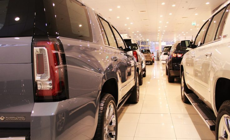 car showroom - buying a car