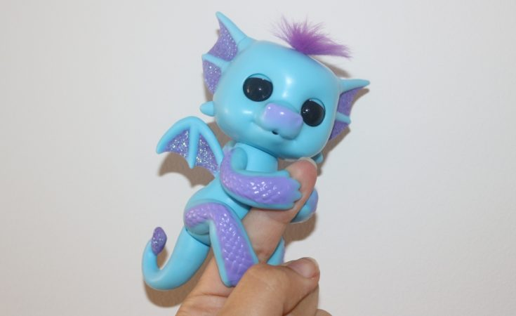 Interactive Baby Dragon Pink with Blue WowWee Sandy fingerling