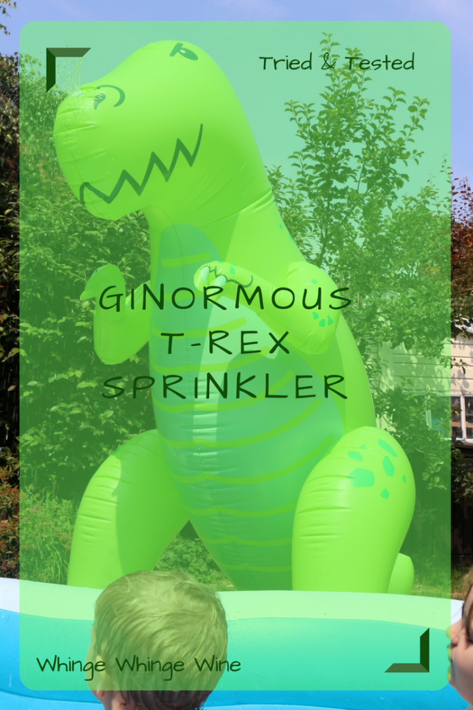 Summer fun in the garden with this Ginormous 6ft T-Rex dinosaur garden sprinkler! We review this inflatable garden monster #inflatables #dinosaurs #summerfun #children #gardenfun #kids #menkind #trex #waterplay