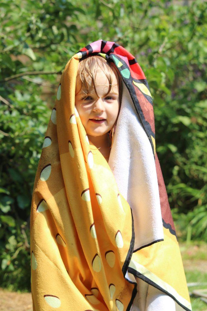Burger beach towel from Menkind