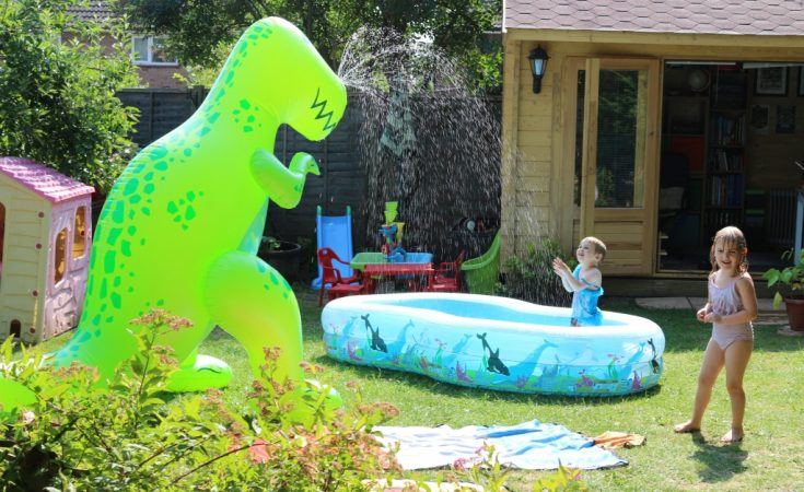 Ginormous T-rex sprinkler from BigMouth inc Menkind (70)