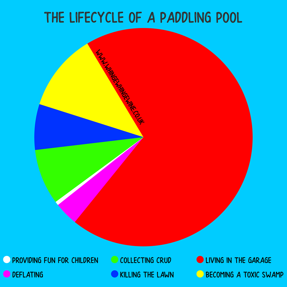 The lifecycle of a paddling pool