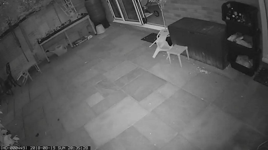 CCTV at night