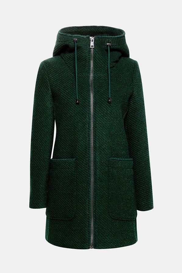 Hooded coat from Espirit - women's coats 2018 autumn winter fashion trend