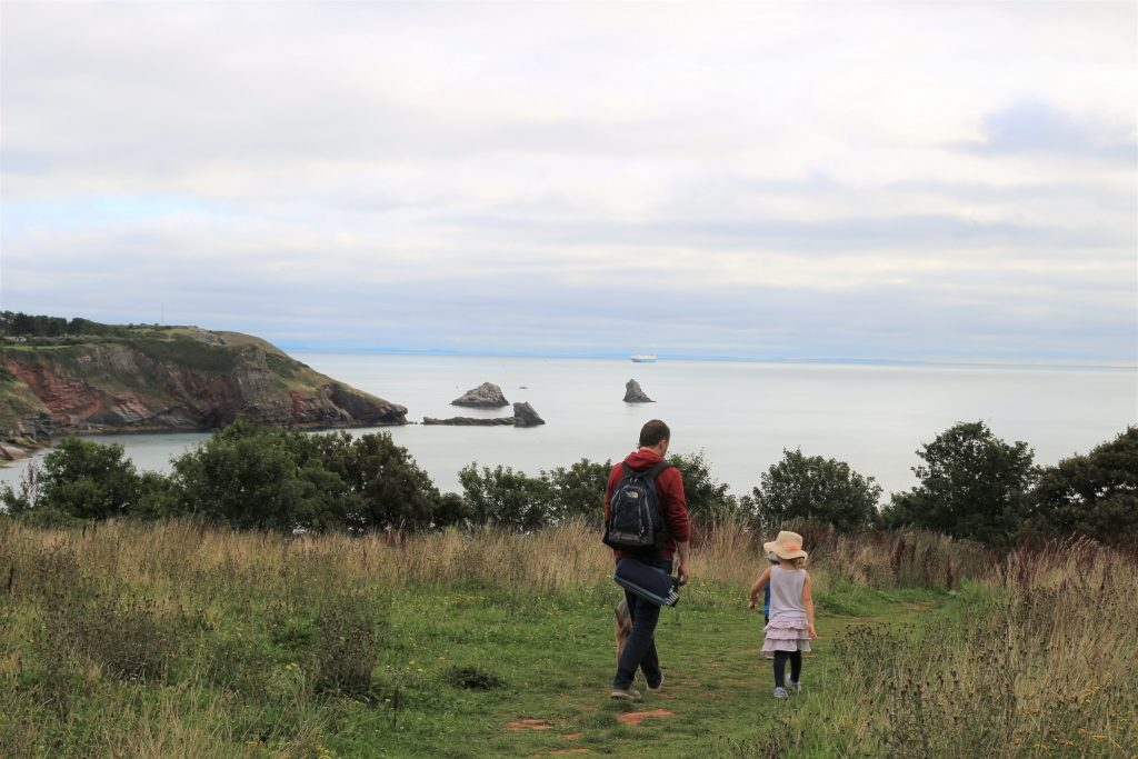 Walking over the fields to the sea - packing for a UK staycation holiday