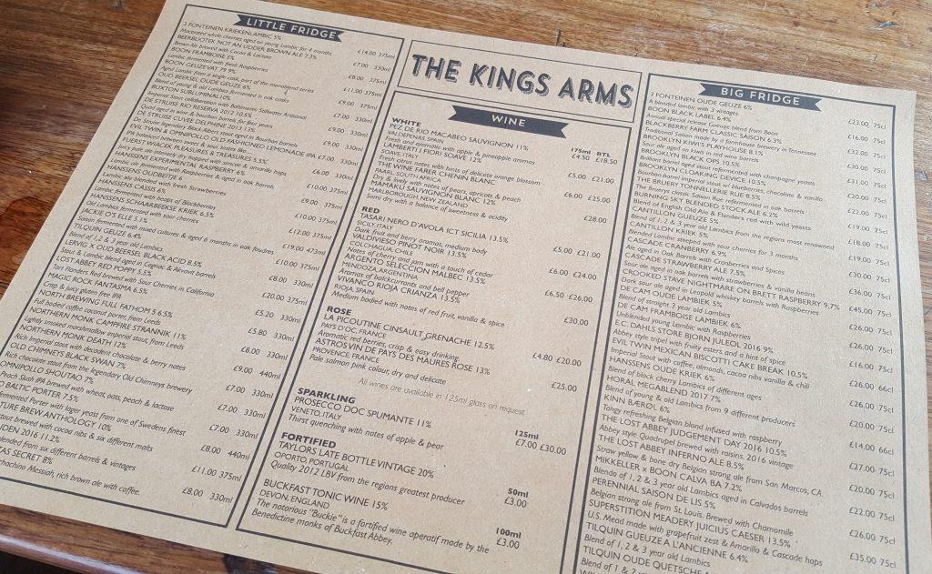 Indytute East London Beer Hop Kings Arms Bethnal Green
