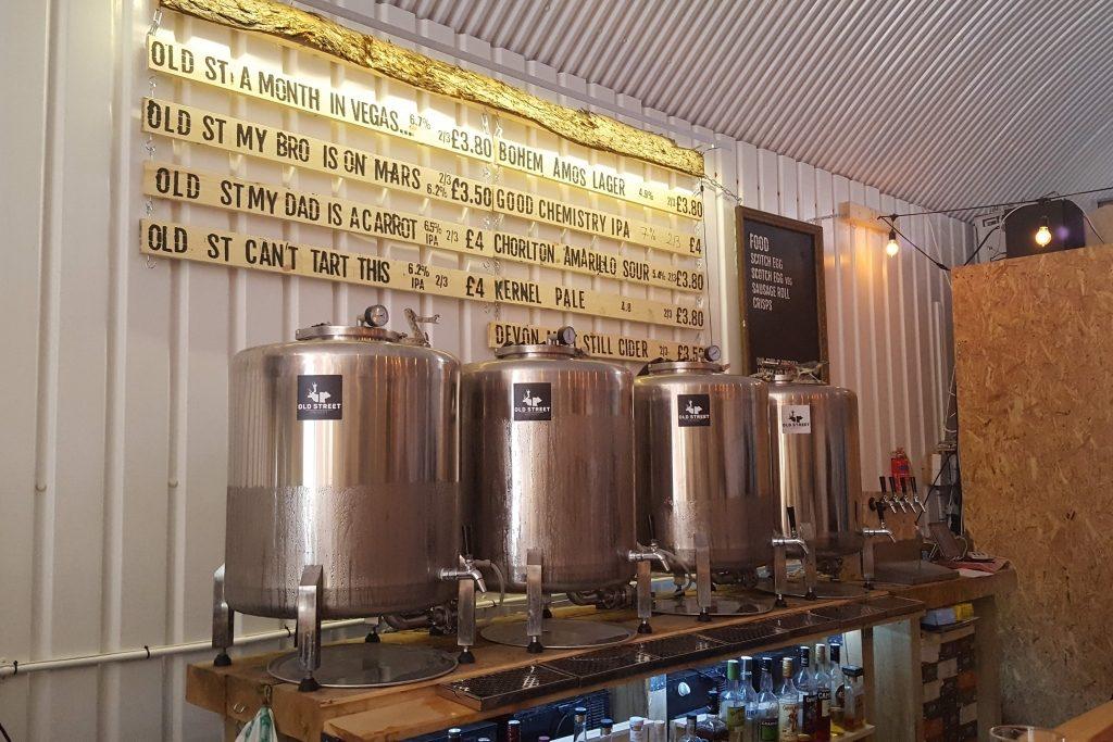 Indytute East London Beer Hop Old Street Taproom Brewery