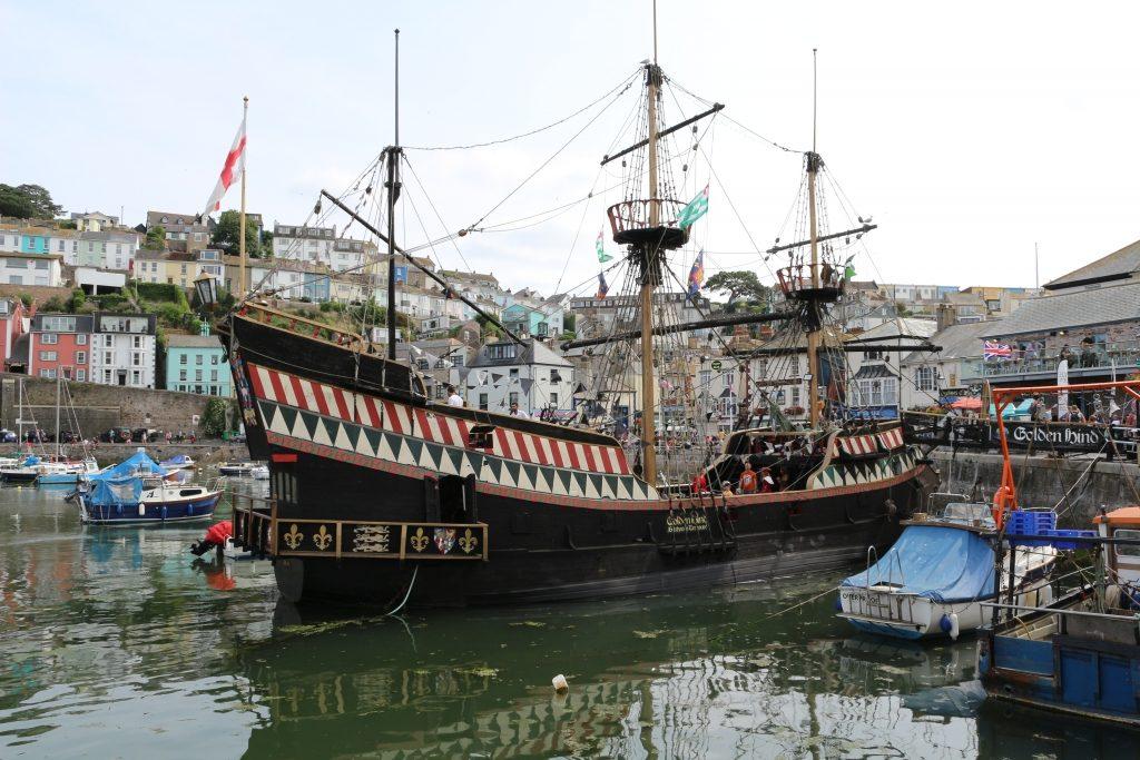 John Fowler South Bay Holiday Park Brixham The Golden Hind ship