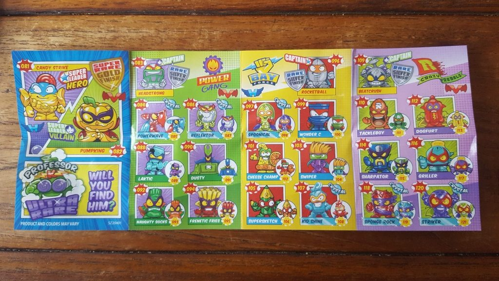 SuperZings series 2 Rivals of Kaboom character list