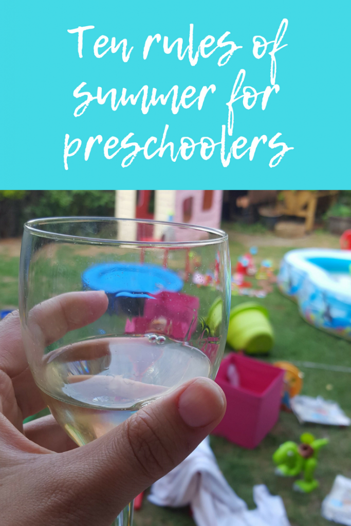 Ten rules of summer holidays for preschoolers and toddlers #momlife #parenting #summerholidays #toddlers #preschoolers #momhumor #mjumlife #parentinghumor #parentinglists #parentingrules