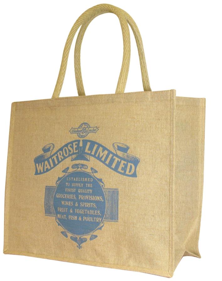 Waitrose Hessian Bag for Tunbridge Wells Little Waitrose Store opening