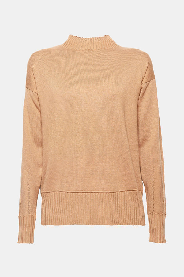 high necked camel jumper - camel is big in AW 2018