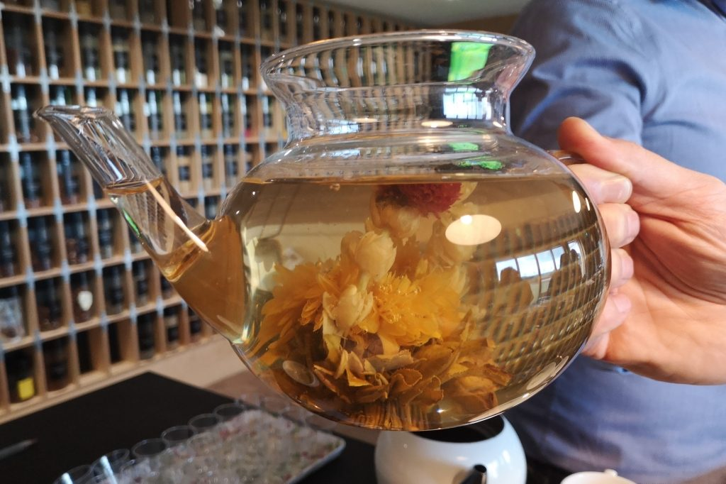 A beautiful but slightly bland Chinese hand-tied artisan flowering tea - Eleven things you didn't know about TEA A Red Letter Days experience at Blends for Friends