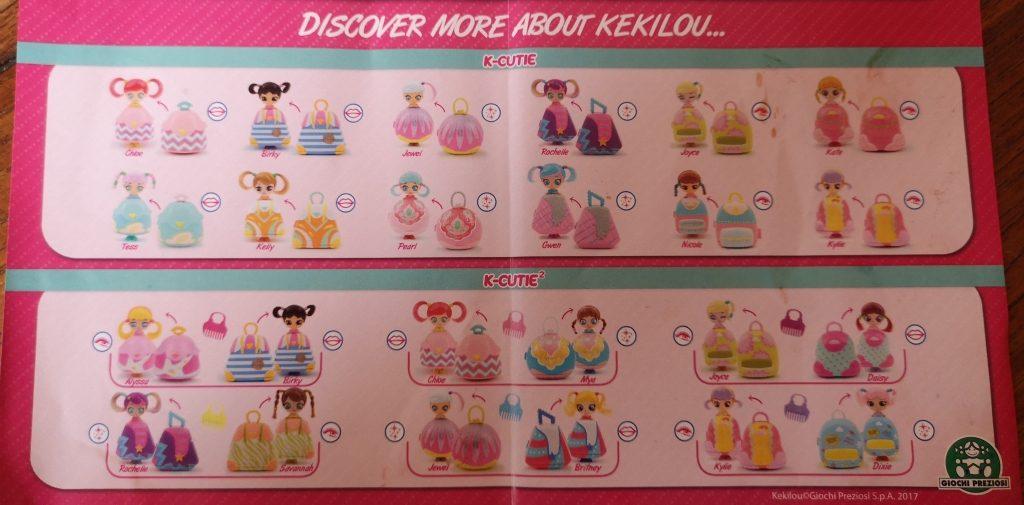 Kekilou Surprise doll Collector's list