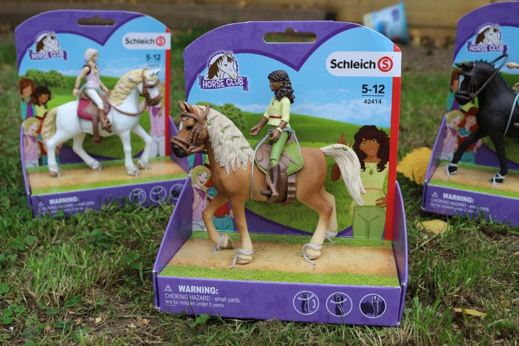 Schleich Horse Club horses and riders review Sarah and Mystery