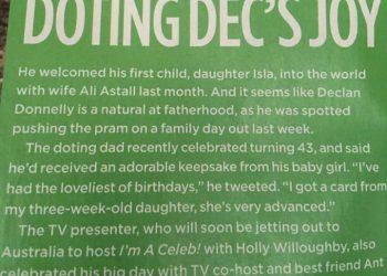 Closer magazine: Dec pushing a pram