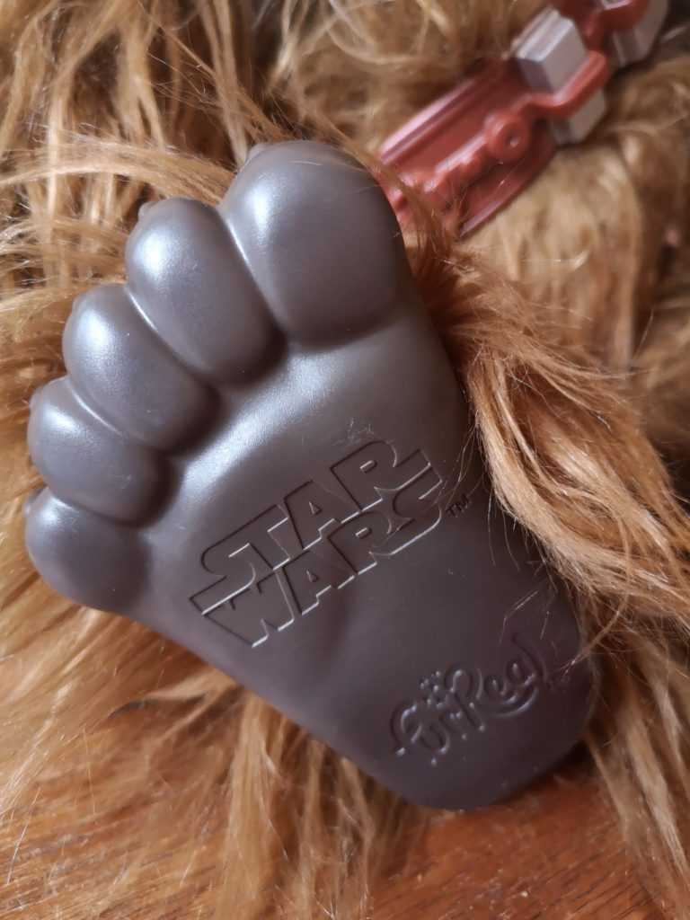 Chewbacca doll toy foot
