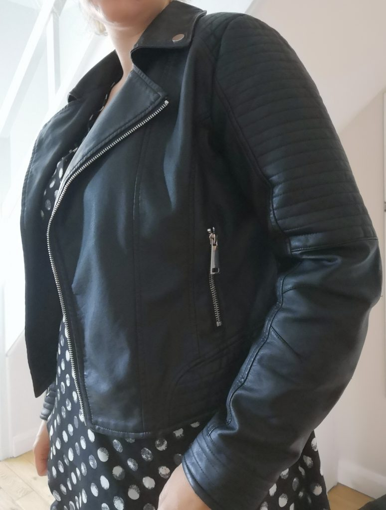 Faux leather jacket - Fashion World Plus Size Fashion Monochrome review (24)
