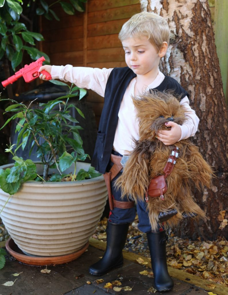 Han Solo children's costume no sew easy (27)