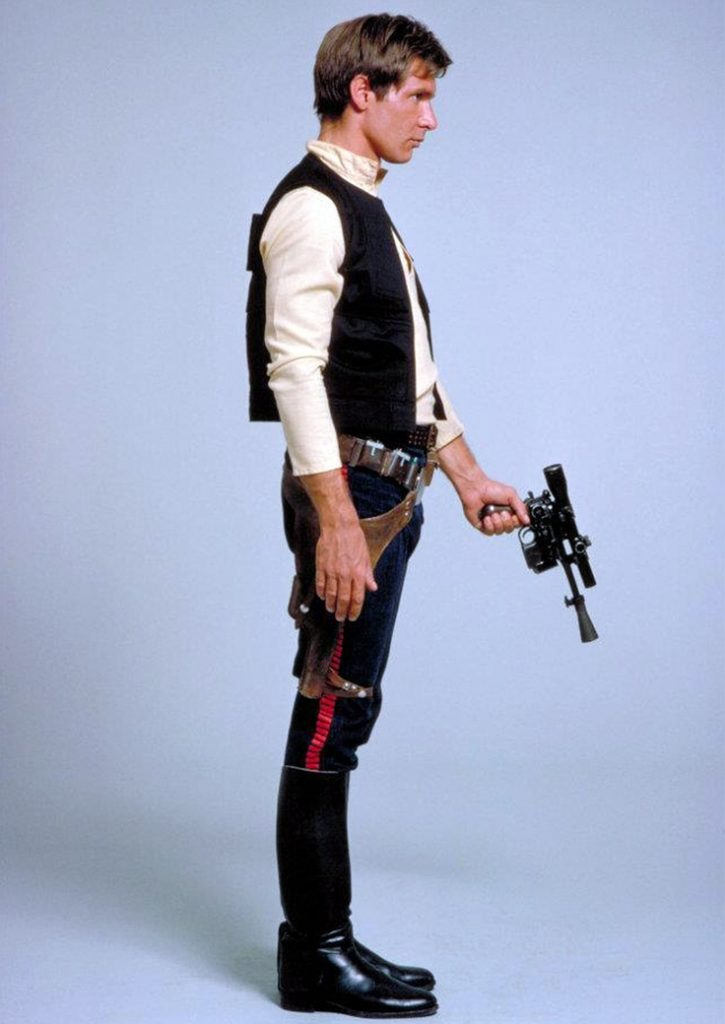 Han Solo outfit costume a new hope blue and red trousers/pants