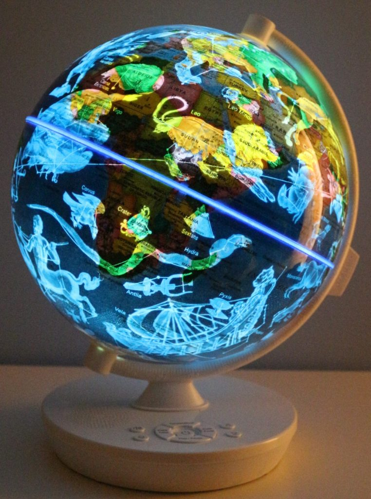 Globe suitable for children: Oregon scientific Smart Globe Myth review: Light up globe with constellations, facts & stories