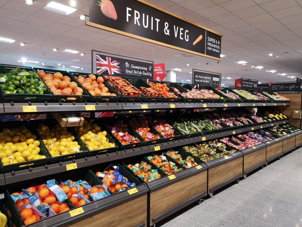 Aldi Tonbridge - Fruit and veg aisle