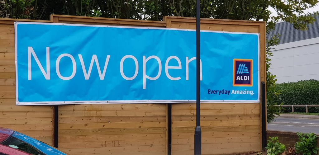 Aldi Tonbridge is open