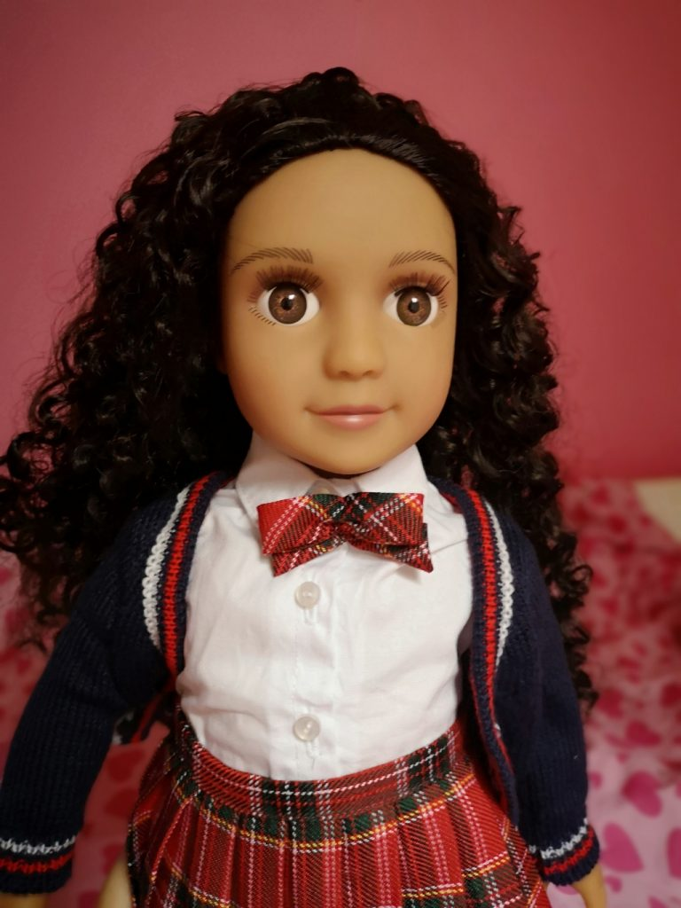 Darcy Curl - mixed race doll with curly hair (5)
