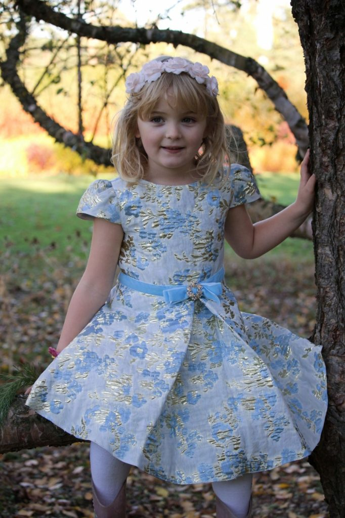 David Charles Childrenswear review dresses girls floral embroidered gown